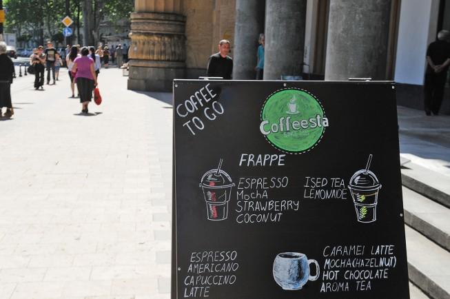 Первое кафе сети Coffeesta в Тбилиси