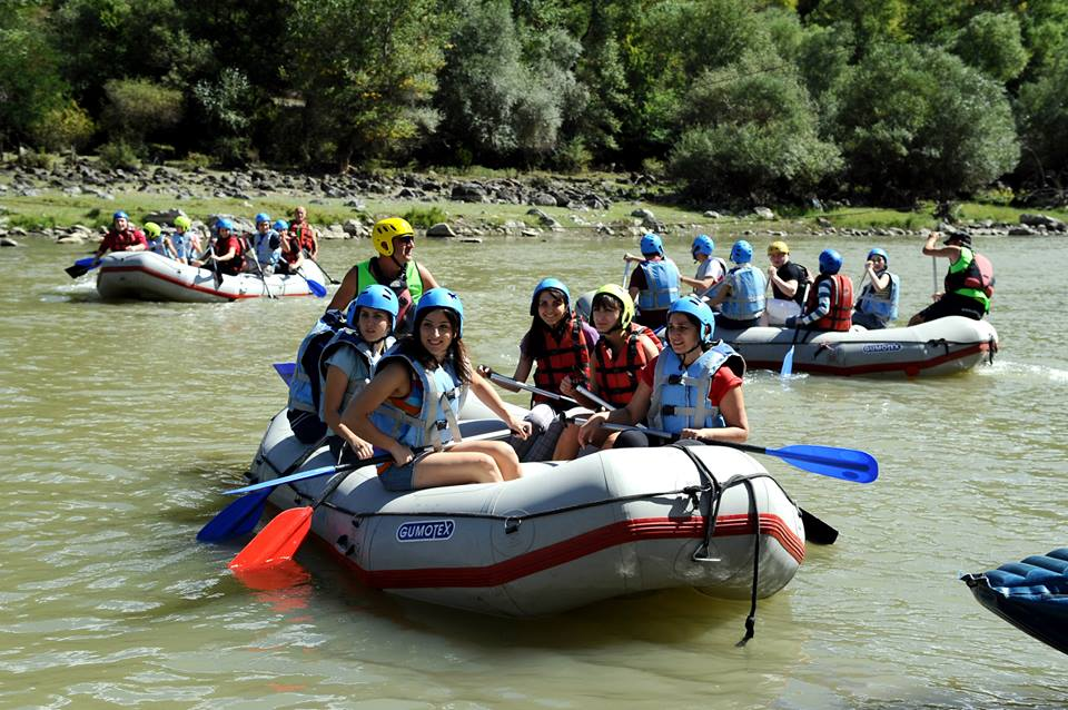 A hot time for the rafting tours on Mountain Rivers of Georgia