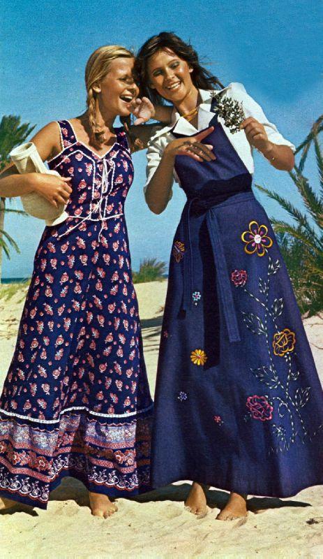 Свободная и яркая мода 1970-х